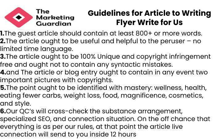 Guidelines for Article to Writing Flyer Write for Us