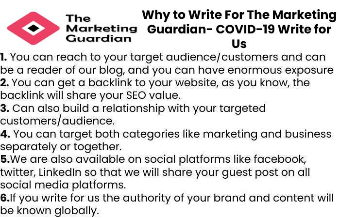 Why to Write For The Marketing Guardian- COVID-19 Write for Us