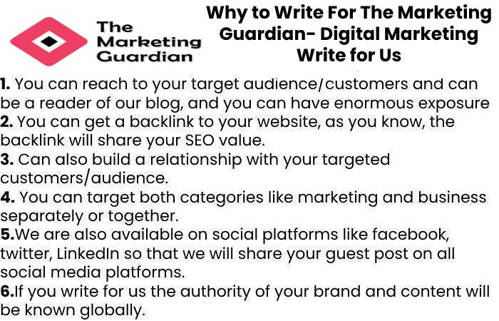 Why to Write For The Marketing Guardian- Digital Marketing Write for Us