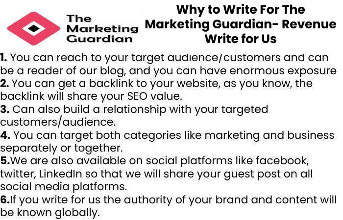 Why to Write For The Marketing Guardian- Revenue Write for Us