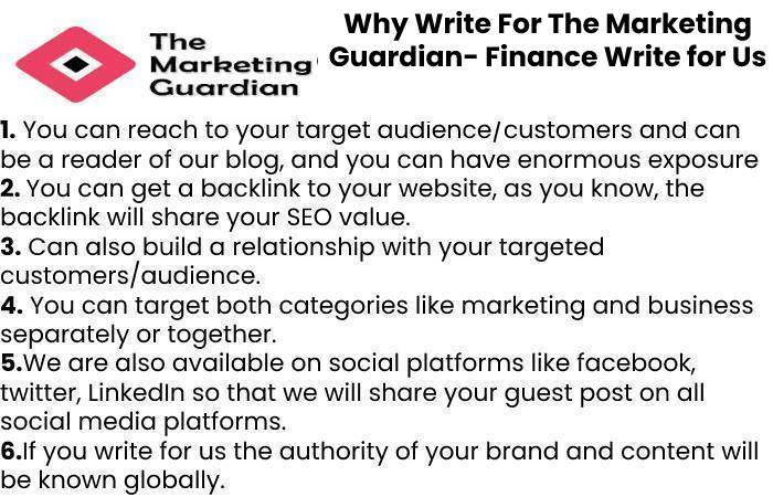 Why Write For The Marketing Guardian- Finance Write for Us