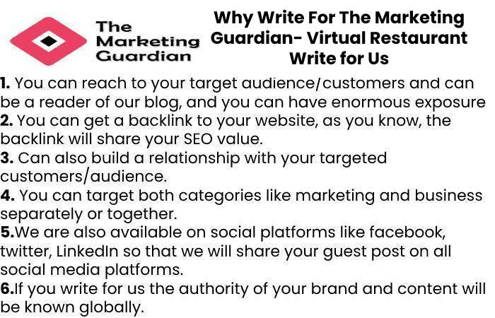 Why Write For The Marketing Guardian- Virtual Restaurant Write for Us