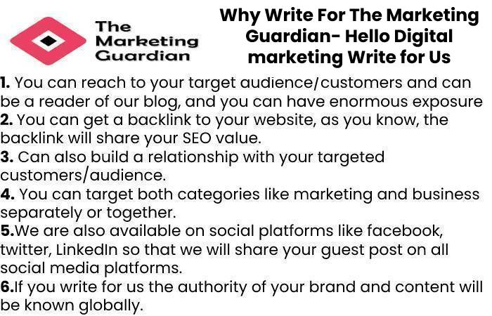 Why Write For The Marketing Guardian- Hello Digital marketing Write for Us