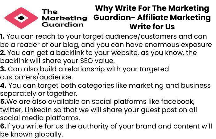 Why Write For The Marketing Guardian- Affiliate Marketing Write for Us