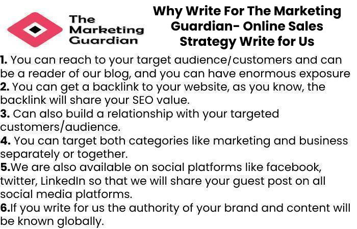 Why Write For The Marketing Guardian- Online Sales Strategy Write for Us