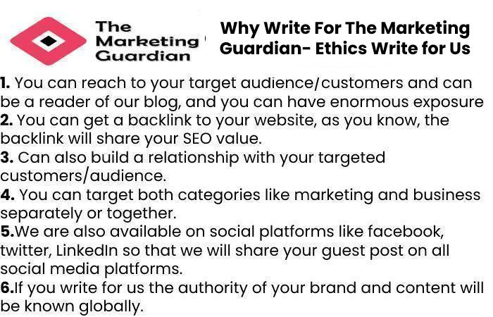 Why Write For The Marketing Guardian- Ethics Write for Us