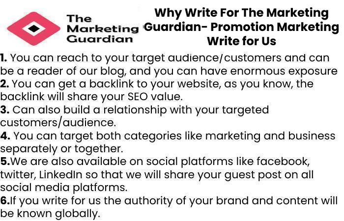 Why Write For The Marketing Guardian- PromotionMarketing Write for Us