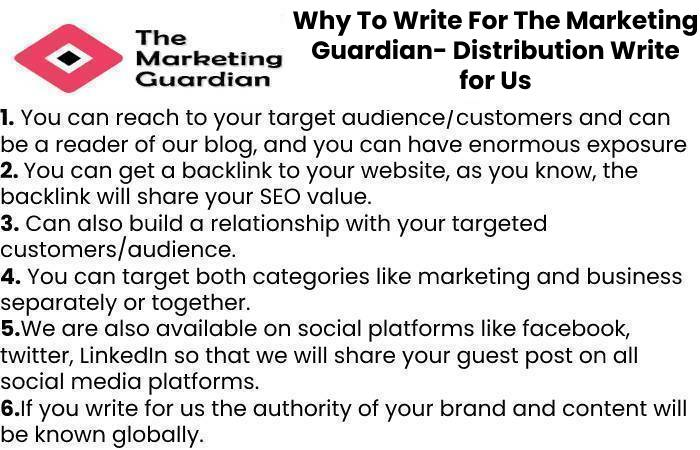 Why To Write For The Marketing Guardian- Distribution Write for Us