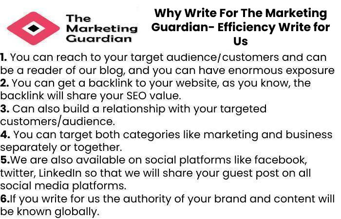 Why Write For The Marketing Guardian- Efficiency Write for Us