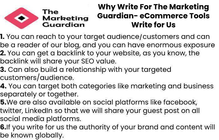 Why Write For The Marketing Guardian- eCommerce Tools Write for Us