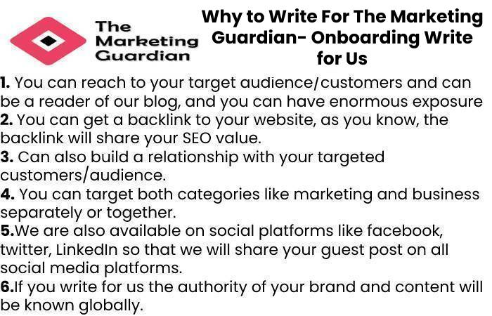 Why to Write For The Marketing Guardian- Onboarding Write for Us