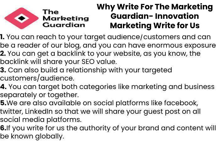 Why Write For The Marketing Guardian- Innovation Marketing Write for Us