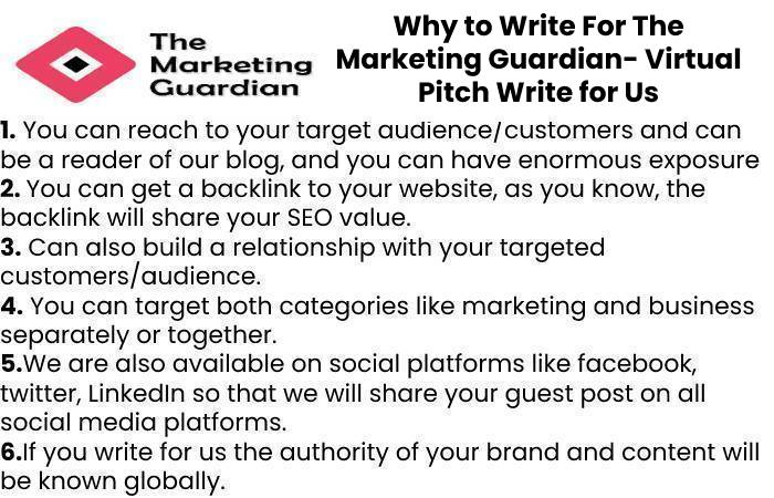 Why to Write For The Marketing Guardian- Virtual Pitch Write for Us