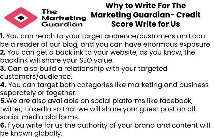 Why to Write For The Marketing Guardian- Credit Score Write for Us