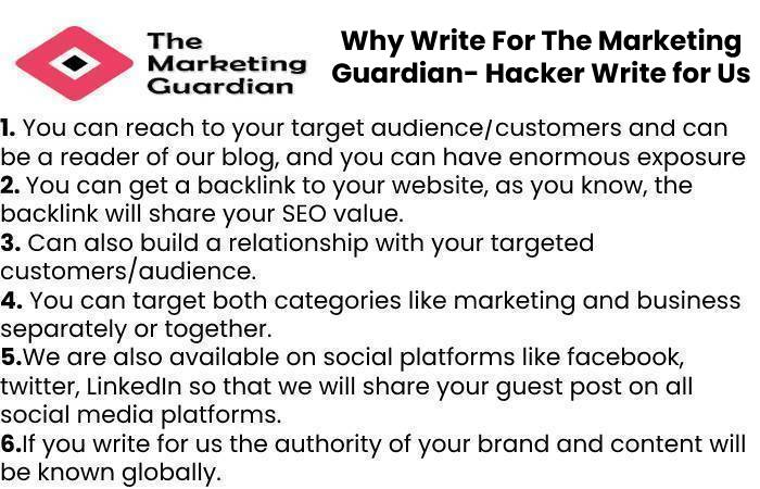 Why Write For The Marketing Guardian- Hacker Write for Us