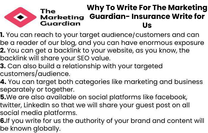 Why To Write For The Marketing Guardian- Insurance Write for Us