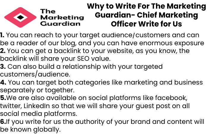Why to Write For The Marketing Guardian- Chief Marketing Officer Write for Us
