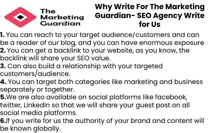 Why Write For The Marketing Guardian- SEO Agency Write for Us