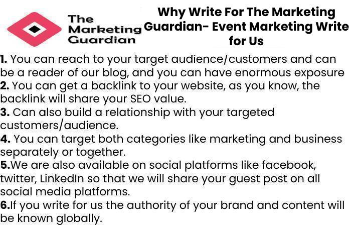 Why Write For The Marketing Guardian- Event Marketing Write for Us