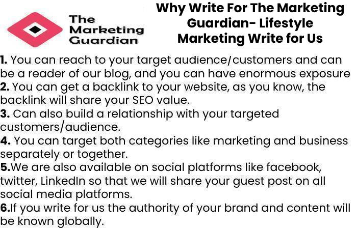 Why Write For The Marketing Guardian- Lifestyle Marketing Write for Us
