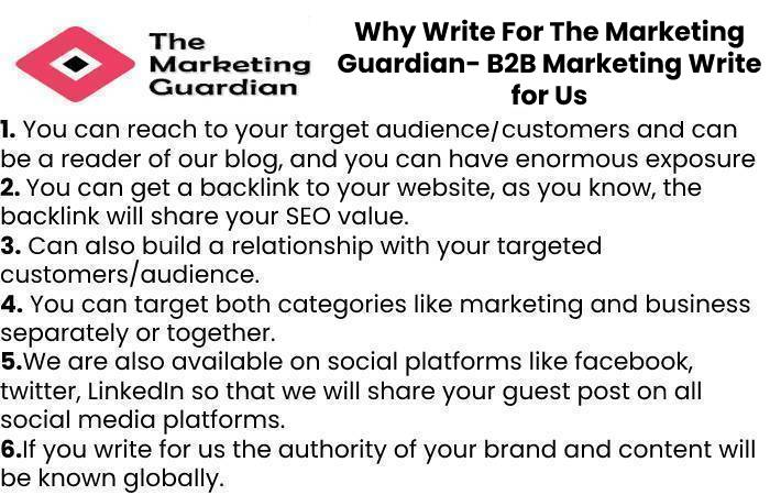 Why Write For The Marketing Guardian- B2B Marketing Write for Us